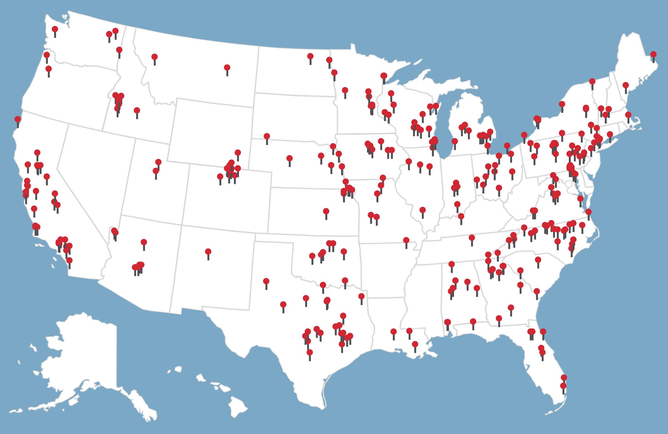 CAF case map